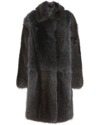 Inès & Maréchal Week Raccoon Fur And Shearling Coat - Lyst