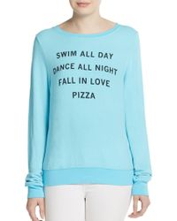 Wildfox Pizza Party Sweatshirt - Lyst