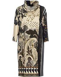 Etro Short Dress beige - Lyst