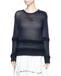 Chloé | Mohair-wool Mesh Knit Sweater | Lyst