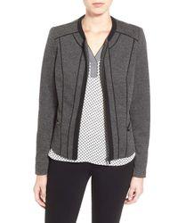 Dex - Jacquard Knit Front Zip Jacket - Lyst