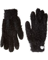 Betsey Johnson Do Me A Solid Soft I Touch Gloves - Black