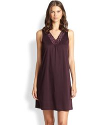 Hanro Moments Tank Short Gown - Lyst