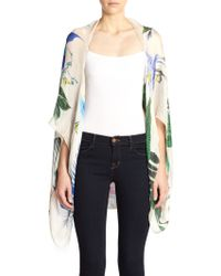 Roberto Cavalli Tropical Silk Poncho - Multicolor