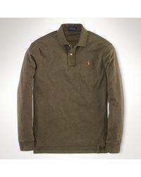 Polo Ralph Lauren Pima Cotton Longsleeved Polo - Lyst