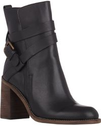 See By Chloé Crisscross-Strap Ankle Boots - Lyst