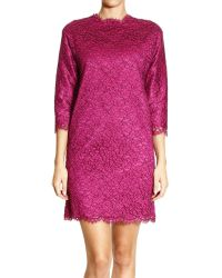 Ermanno Scervino Dress 34 Sleeve Crew Neck Lace - Lyst