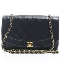 Chanel Pre-Owned Black Lambskin Small Single Flap Bag black - Lyst