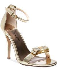 Madden Girl Darlaaa Rhinestone Bow Dress Sandals - Lyst