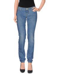 Re-hash Denim Trousers blue - Lyst