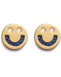 Ruifier - 'happy' 18k Yellow Gold Cord Stud Earrings - Lyst