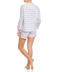 Marigot Collection Slate Pelican Short Pajama Sets - Gray