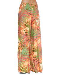 Carmen Marc Valvo - Tropical Fantasy Wide-Leg Pants - Lyst