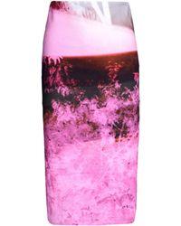 McQ by Alexander McQueen 3/4 Length Skirt purple - Lyst