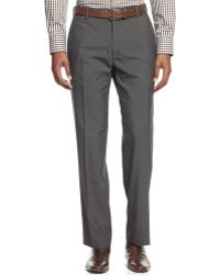 Kenneth Cole Reaction Textured Slim-fit Pants - Lyst