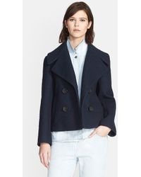 3.1 Phillip Lim Denim Layer Double Breasted Wool Blend Jacket blue - Lyst