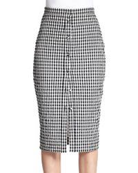 Altuzarra Balthazar Gingham Pencil Skirt black - Lyst