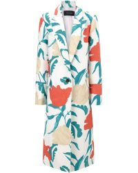 Thakoon Multi Floral Printed Menswear Coat - Lyst