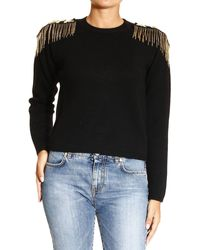Versace Sweater Crewneck with Mosrtine - Lyst
