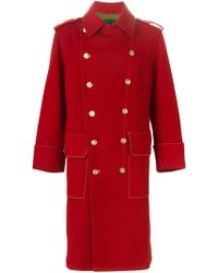 Jean Paul Gaultier - Double Breasted Military Long Coat - Lyst