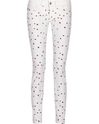 Etoile Isabel Marant Rumba Embroidered Low-rise Skinny Jeans - Lyst