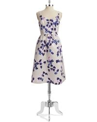 Cynthia Steffe Floral Satin Fit-And-Flare Dress floral - Lyst
