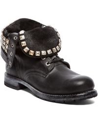 Frye Rogan Studded Lace Boot - Lyst