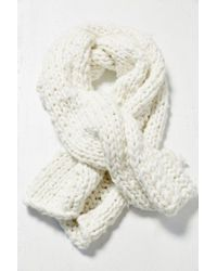 Urban Outfitters Chunky Hand Knit Blanket Scarf - Lyst