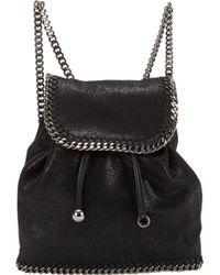 Stella McCartney Falabella Shaggy Deer Mini Backpack - Lyst