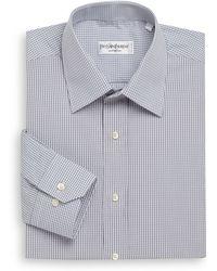 Saint Laurent Woven Check Dress Shirt - Lyst
