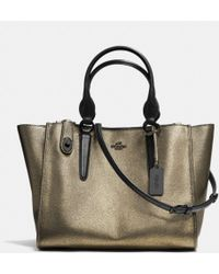 Coach Crosby Carryall in Metallic Leather - Lyst