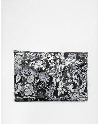Asos Jacquard Fold Over Clutch Bag multicolor - Lyst