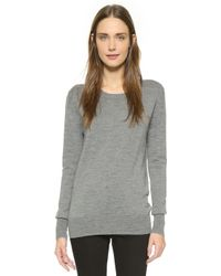 Anya Hindmarch - Pullover With Smiley Patches - Medium Grey - Lyst