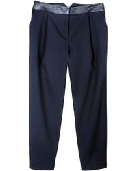 Tibi City Stretch Pleated Cropped Pants - Lyst