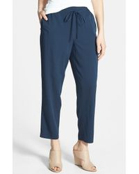 Nordstrom Collection Stretch Silk Drawstring Pants - Lyst