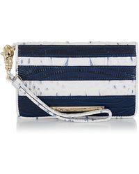 Brahmin - Debi Embossed Leather Stripe Wristlet - Lyst