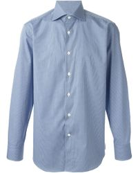 Canali Mini Check Shirt - Lyst