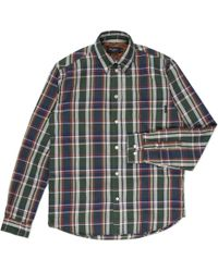 Paul Smith Navy And Green Cotton-Twill Check Shirt - Lyst