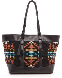 Pendleton, The Portland Collection Braided Tote Rancho Arroyo Black - Lyst