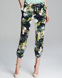 Adrianna Papell - Print Drawstring Trousers - Lyst