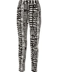 Proenza Schouler Jacquard Tapered Pants - Lyst