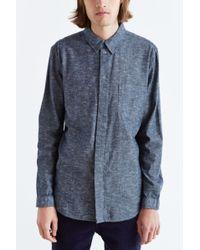 Cheap Monday Uneven Chambray Button-down Shirt - Lyst