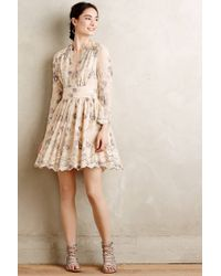 Zimmermann Tristana Embroidered Silk Dress floral - Lyst