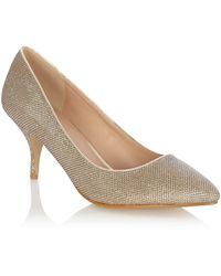 Oasis Cara Sparkle Fabric Court Shoes - Lyst