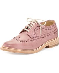 Frye James Leather Wingtip Oxford - Lyst