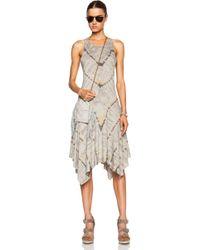 Raquel Allegra Handkerchief Cotton-Blend Tank Dress - Lyst