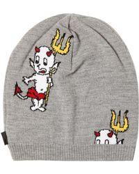 Love Moschino - Little Devils Intarsia Wool Hat - Lyst