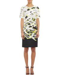J. Mendel Abstract-Print Sheath Dress - Lyst
