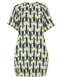 Paul Smith Women's Chartreuse 'pop Graphic' Print Crêpe Dress - Natural