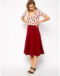 Asos Longline Skirt with Peplum Hem - Lyst